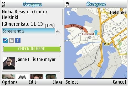 Foursquare For Nokia Series 40 Phones