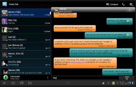 Tablet Talk Sms On Android Tablet Java Phones Com