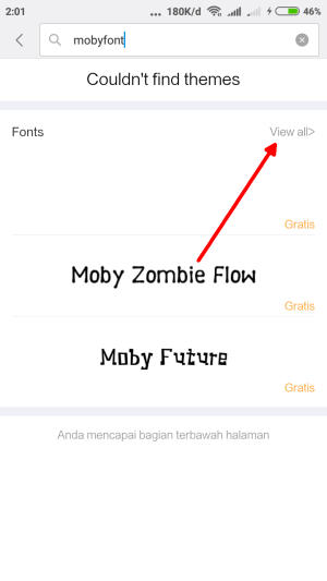 view all font Xiaomi Redmi Note 3