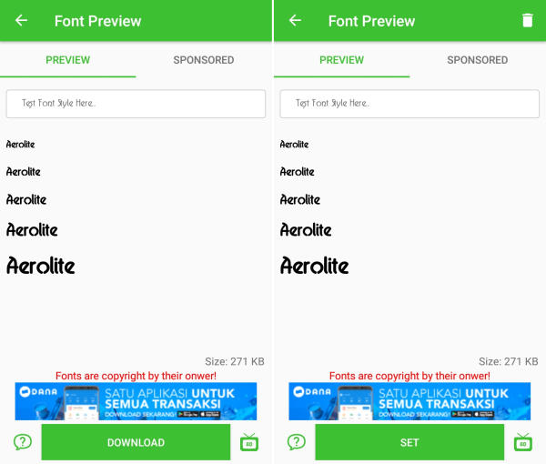 download font style Samsung SM G9298